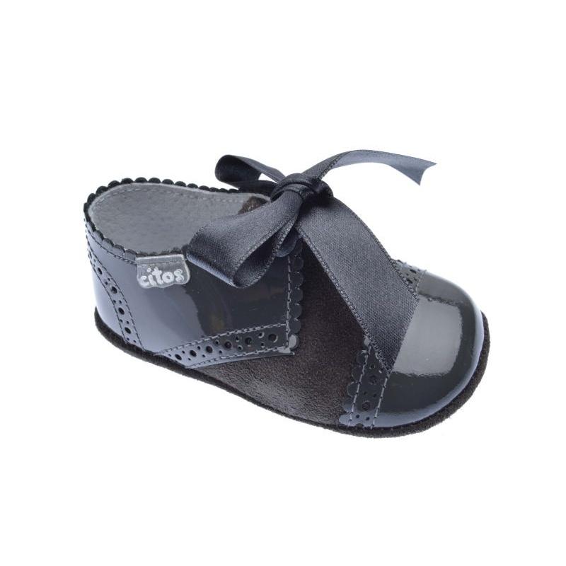Zapatos grises para bebé 5 USA 4 MIJcps2Og - gocupi.com