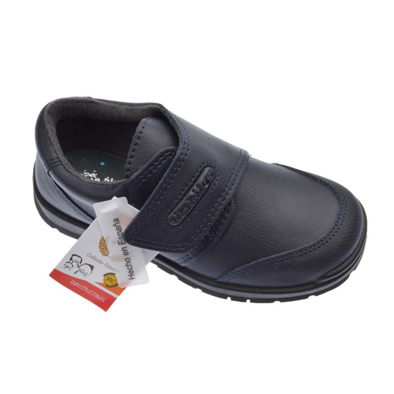 6e9a33c6ff4 Zapatos Colegiales de niño piel marino lavables -Titanitos-