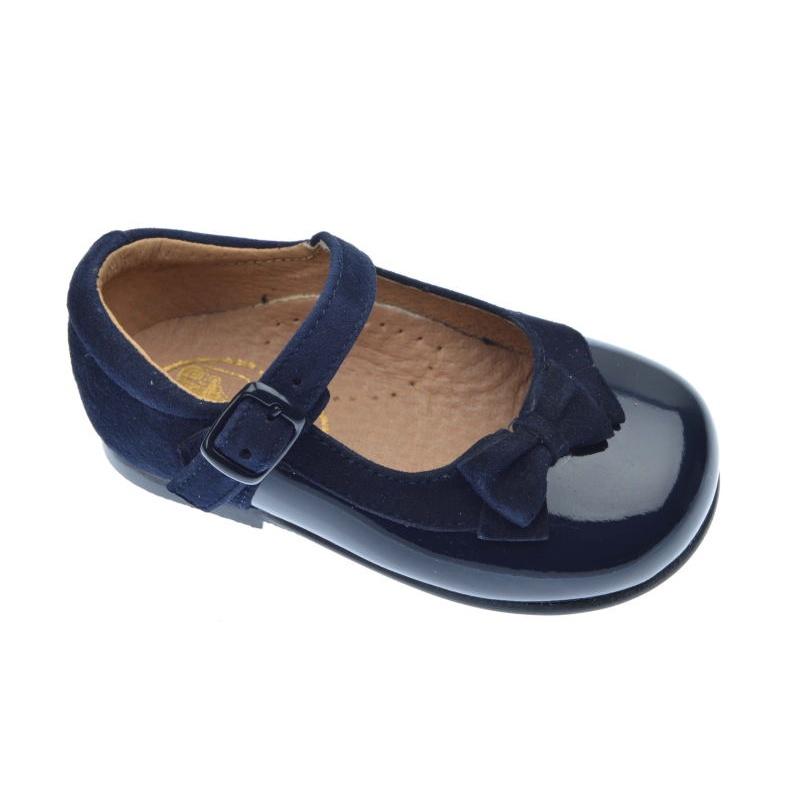 zapatillas de deporte para baratas 6942d 0c2b8 MERCEDITAS NIÑA CHAROL MARINO FACALIN ANTE MARINO 1457