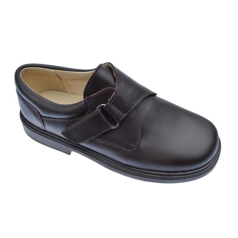 Chaussures Marron Avec Velcro 8Gl7N