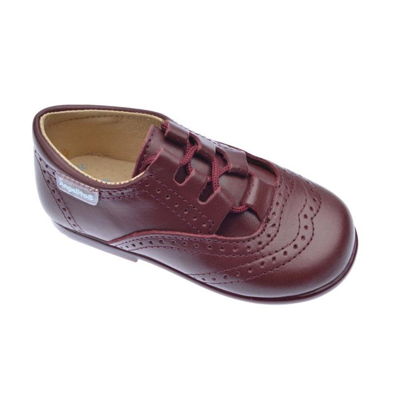 Zapatos De Vestir Para Niños Angelitos Burdeos 505