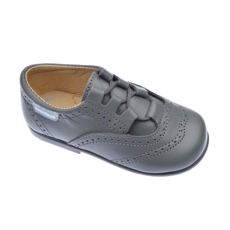 af6644b71 Zapatos-inglesitos de niño Angelitos color gris