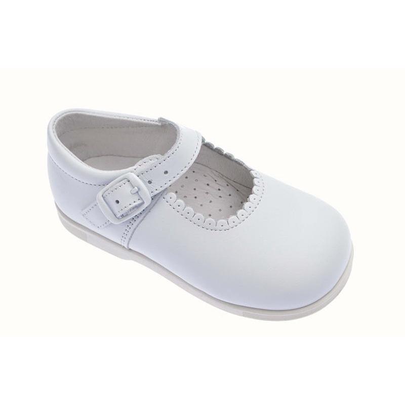 58dc3929 Merceditas para niña Andanines piel color blanco
