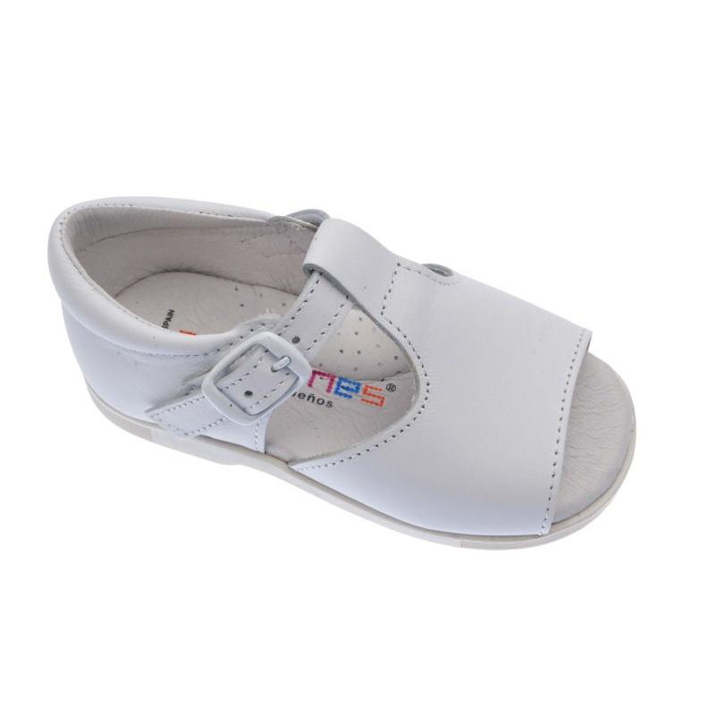 6168c64d8c3 Sandalias bebé de niño Andanines muy resistentes blancas