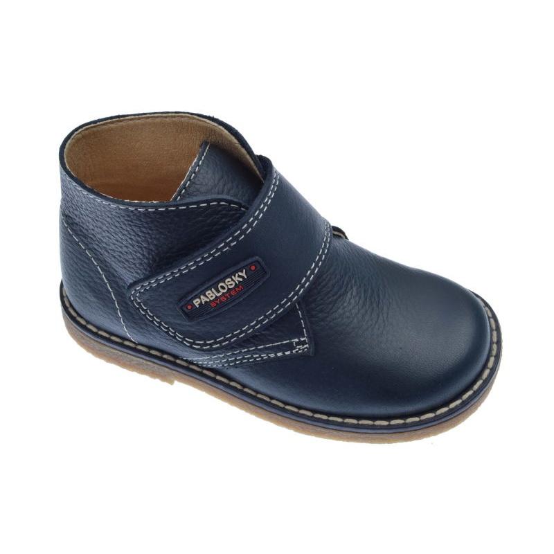 c327cd19a90 Botas para niño de vestir color azul marino con velcro