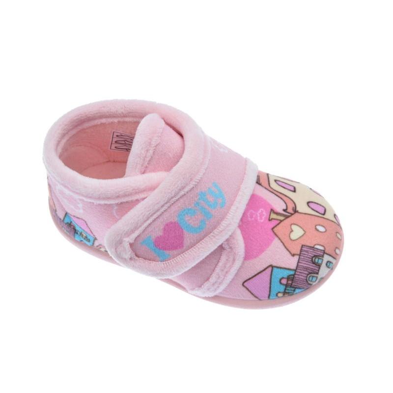 43e0ab51e Zapatillas de andar por casa para Niña puchitos rosa
