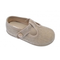 ZAPATILLAS LONA NIÑO CHUCHES LINO NATURAL 11090/11000 BOTON-02