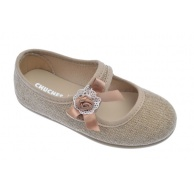 ZAPATILLAS LONA NIÑA CHUCHES LINO NATURAL 9403