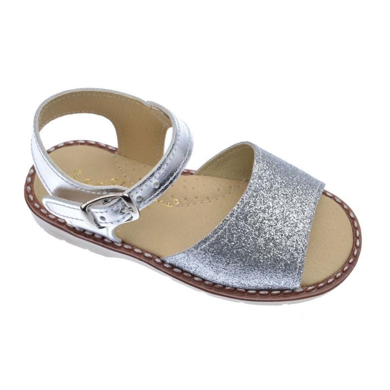 ad3a4660a77 Sandalias plateadas para niña -Aladino-