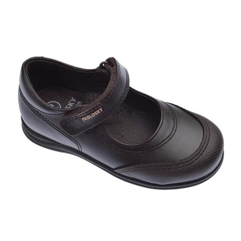 Niña Pablosky Marrón Box Zapatos Colegiales 320090 hQBtdCxsr