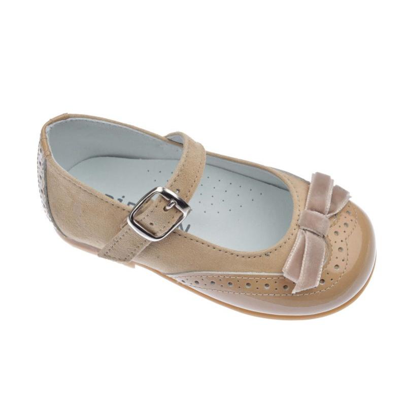 zapatos de separación 17223 5c262 MERCEDITAS NIÑA PIRUFIN CHAROL SAND CON ANTE SAND 11465