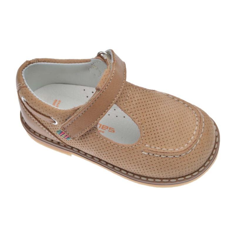 2192b9fcc Zapato-Sandalia de niño Andanines piel dijón arena con camel
