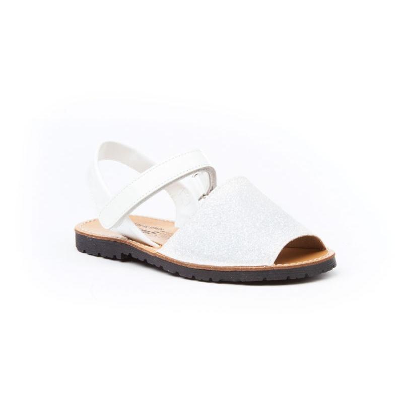 0026f072a Menorquinas de niña clásicas con glitter blanco -Angelitos-