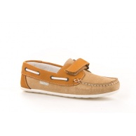 MOCASINES VELCRO NIÑO ANGELITOS CAMEL 807