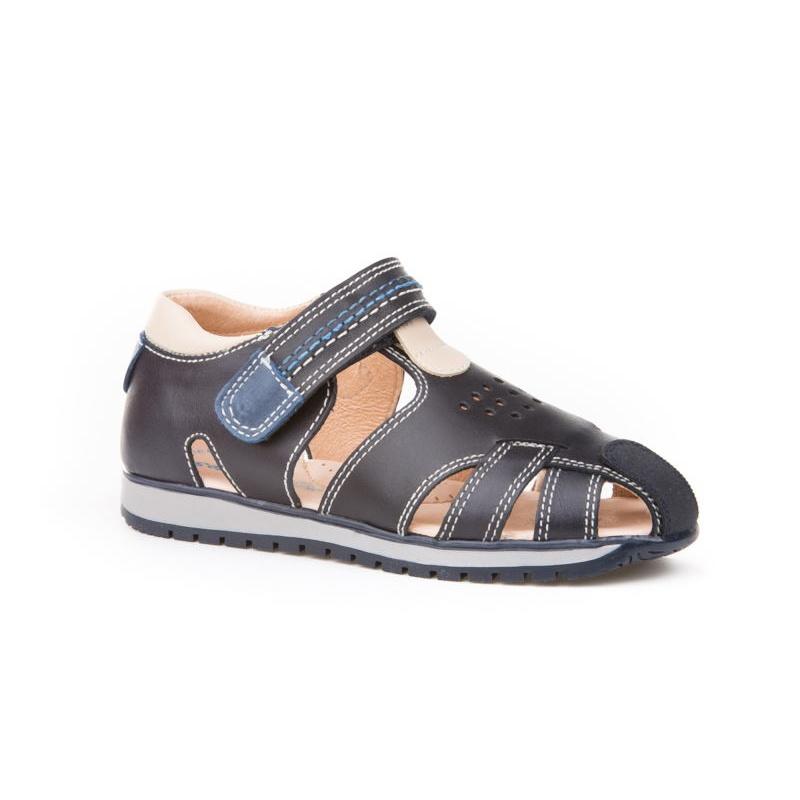 587e14e0e Sandalias de vestir de Niño piel azul marino -Angelitos 449-