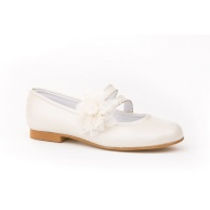 ZAPATOS CEREMONIA NIÑA ANGELITOS NACARADO BEIGE 992