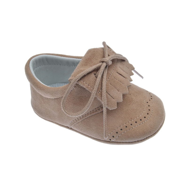 8ff4be50879 Zapatos Bebé sin suela ante taupe (marrón) ⭐ Pirufin ⭐
