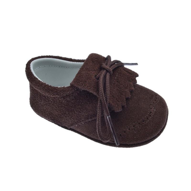 8fd58dfd959eb Zapatos Bebé sin suela serraje expreso (marrón) ⭐ Pirufin ⭐