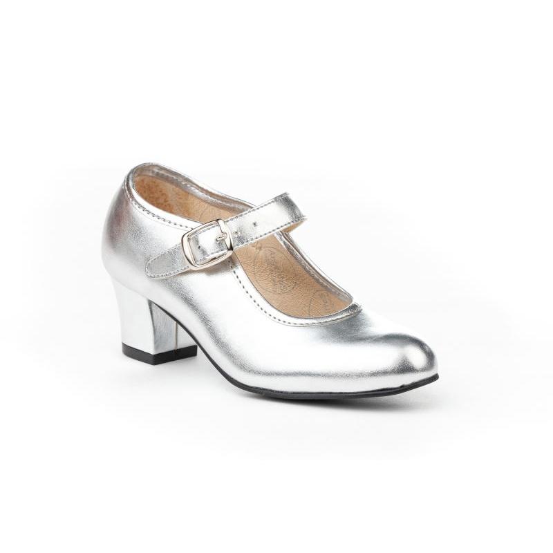 e77219b7 Zapatos sevillana Niña color plata ⭐ Angelitos ⭐