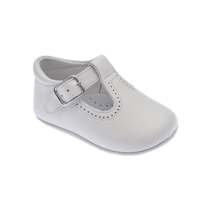 Zapato Inglesito para bebé en piel de 1a Calidad mod.1348 (16, Beige)