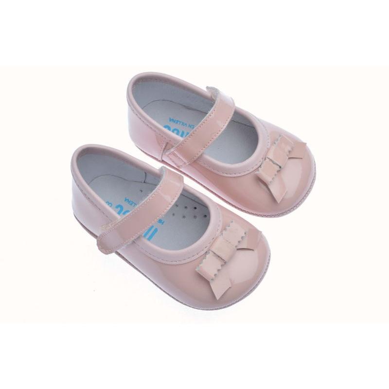 c49687e50 Zapatos de bebé sin suela charol rosa