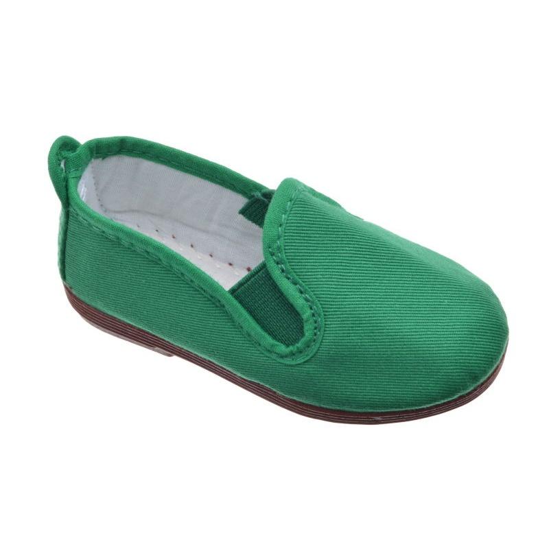 05296612048 Zapatillas Kung-Fu para Niña y Niño lona verde