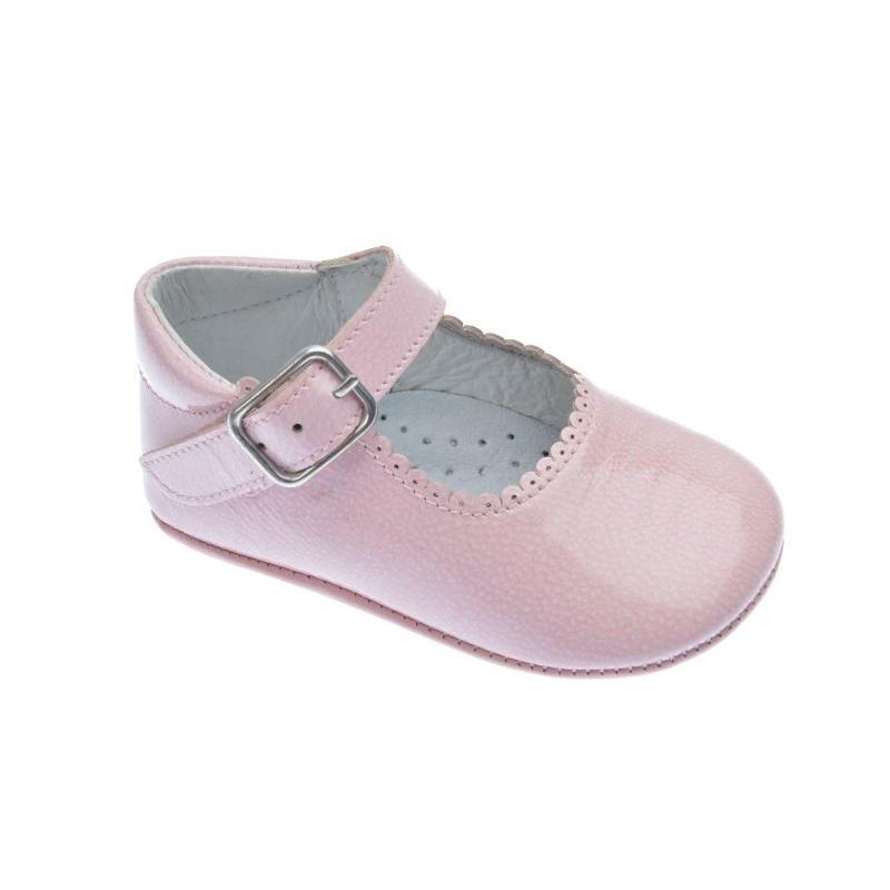 75c15750e6539 Zapatos de bebé charol rosa