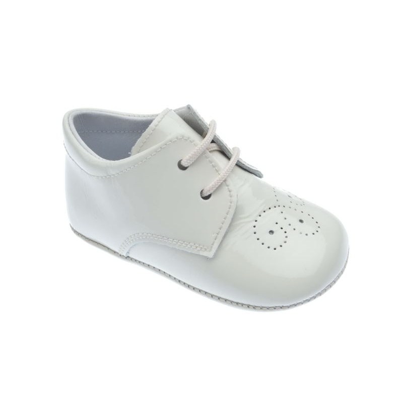 Zapato Inglesito para bebé en piel de 1a Calidad mod.1348 (17, Beige)